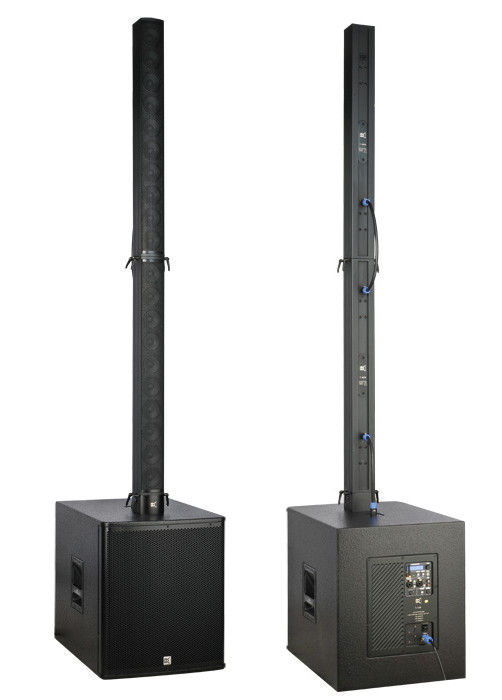 black portable tower aluminium acoustic sound system for band. Black Bedroom Furniture Sets. Home Design Ideas