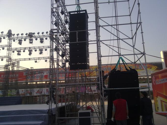 Neodymium Outdoor Line Array Sound System For Church , Professional Loudspeaker Systems