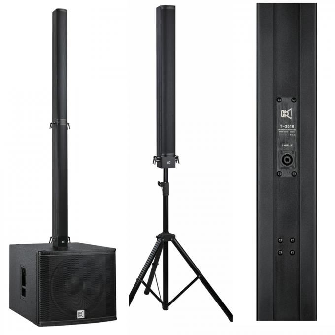Aluminum Plywood Column Array Speakers Bar Sound System , Pro Sound Speakers 18 Inch