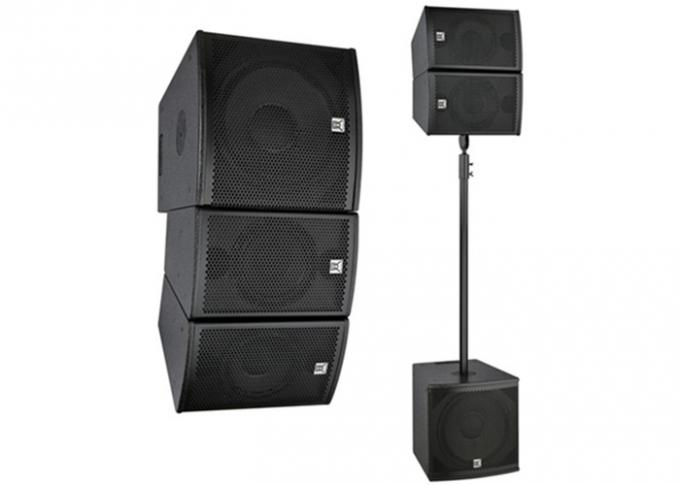 Auditorium Hall Active Line Array System , Sound System Speaker Box For Live Events