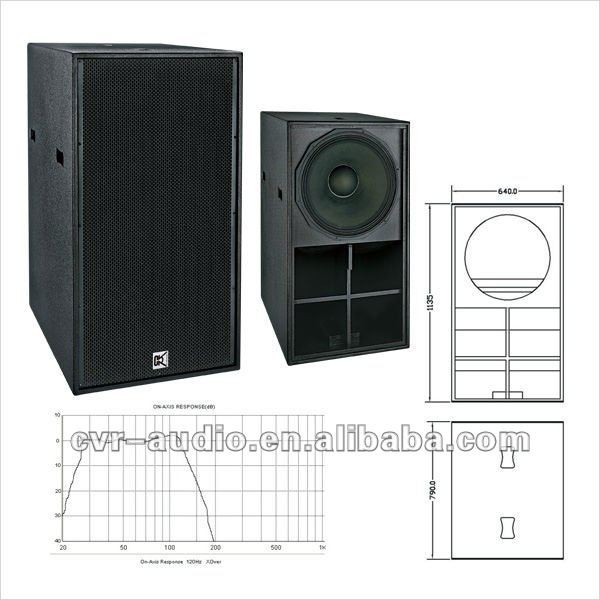 21 Inch Portable Speaker Audio Pro Subwoofer Karaoke Sub Bass , Home ...