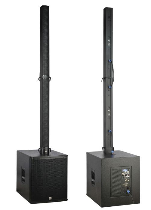 Black Portable Tower Aluminium Acoustic Sound System For Band