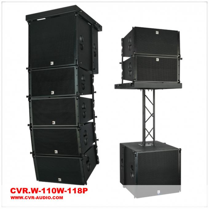 Single 10 Inch Active Line Array Speaker System Birch Plywood
