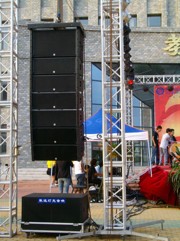 10 Inch Big Outdoor Line Array Speakers Sound And Light Truss System